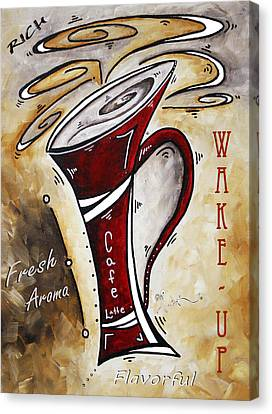 Wake Up Call By Madart Canvas Print by Megan Duncanson