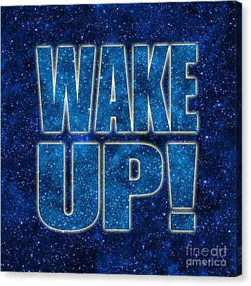 Wake Up Space Background Canvas Print by Ginny Gaura