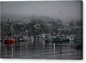 Waking Up In A Small Coastal Town Canvas Print