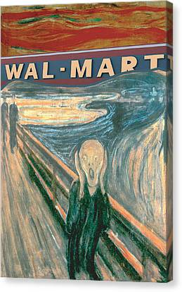 Wal-mart Scream Canvas Print by Ricardo Levins Morales