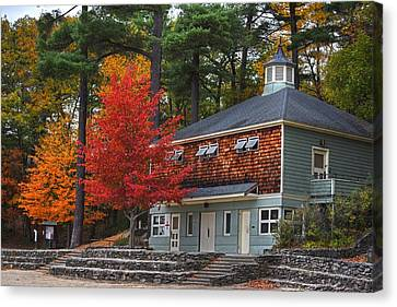 Walden Pond Canvas Print - Walden Pond Bath House Concord Ma by Toby McGuire