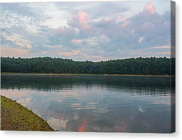 Walden Pond Morning Light Concord Ma Red Clouds Canvas Print