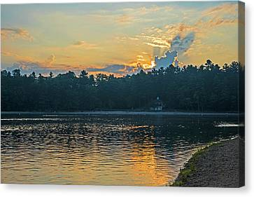 Walden Pond Canvas Print - Walden Pond Sunrise Concord Ma by Toby McGuire