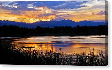 Walden Ponds Sunset 3 Canvas Print