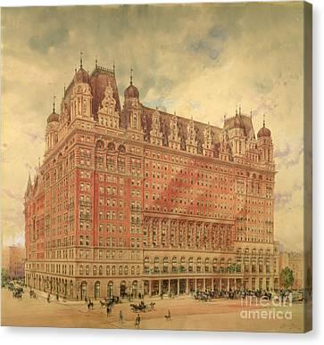 Waldorf Astoria Hotel Canvas Print by Hughson Frederick Hawley