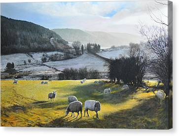 Canvas Print featuring the painting Wales. by Harry Robertson