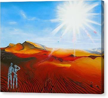 Walk A Mile Canvas Print