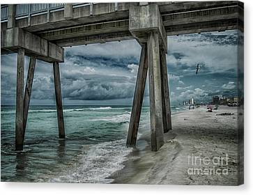 Panama City Beach Canvas Print - Walk Along The Seashore by Judy Hall-Folde