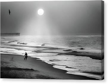 Walk Beneath The Moon Canvas Print by Karen Wiles