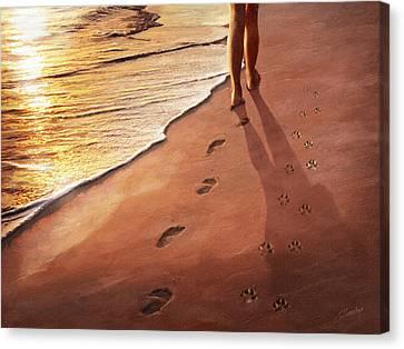 Walk Beside Me Canvas Print by Cliff Hawley