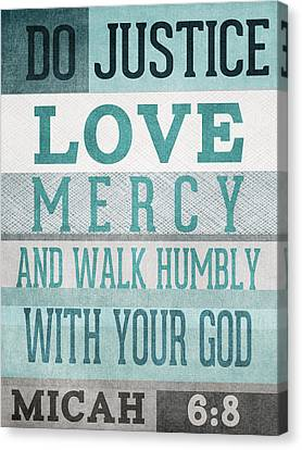 Walk Humbly- Micah  Canvas Print
