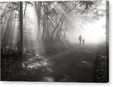 Walk In The Light Canvas Print by Floriana Barbu