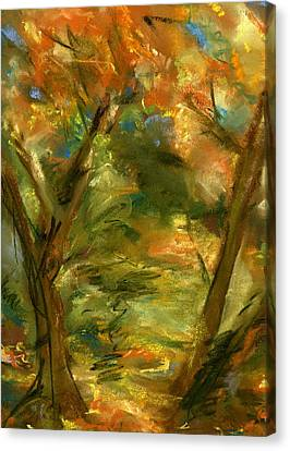 Canvas Print featuring the painting Walk In The Park by Marilyn Barton