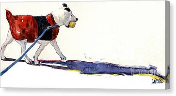 Mutt Canvas Print - Walk In The Park by Molly Poole