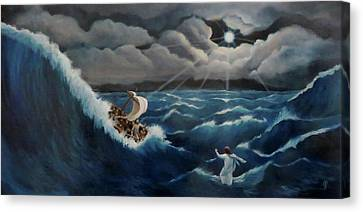 Walk In The Storm Canvas Print