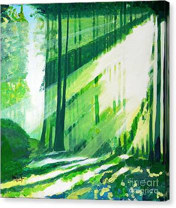 Thewoods Canvas Print - Walk In The Woods by Jolanta Shiloni