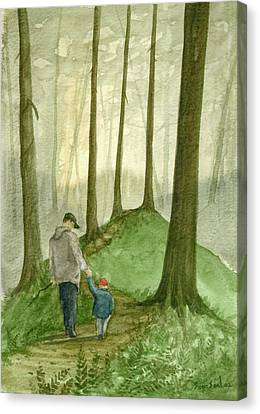 Walk In The Woods Canvas Print by Sean Seal