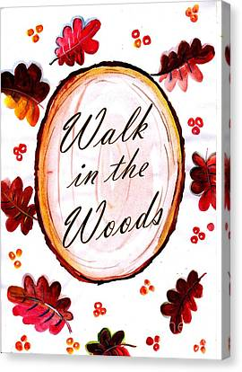 Maple Season Canvas Print - Walk In The Woods by Sweeping Girl