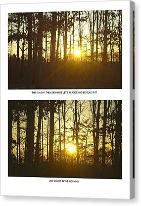 Canvas Print featuring the photograph Walk In The Woods Two by Robin Coaker