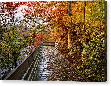 Smokey Mountain Drive Canvas Print - Walk Into Autumn by Debra and Dave Vanderlaan
