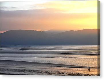 Canvas Print featuring the photograph Walk On The Beach by Harry Robertson