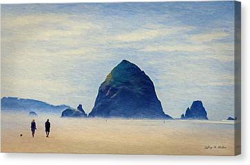 Walk On The Beach Canvas Print by Jeff Kolker