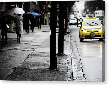 Walk Or Cab Canvas Print by Empty Wall