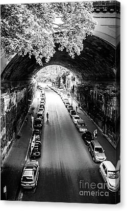 Canvas Print featuring the photograph Walk The Tunnel by Perry Webster