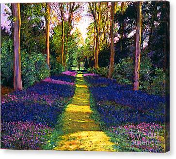 Walk Through Blue Canvas Print by David Lloyd Glover