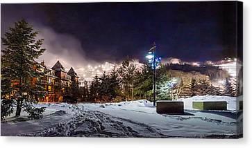 Walk To The Ski Hills Canvas Print by Jeff S PhotoArt