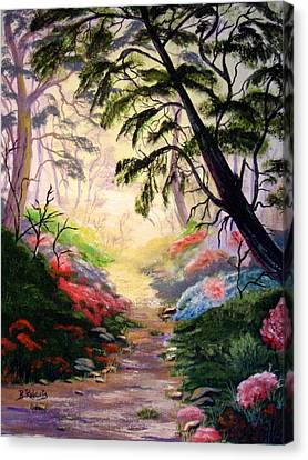 Figment Canvas Print - Walk With Me by Bobbie Roberts