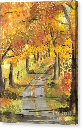Walkin Canvas Print by Vivian  Mosley