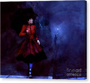 Walking After Midnight Canvas Print by Methune Hively