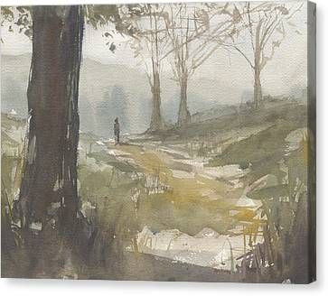 Walking At Green Island Canvas Print