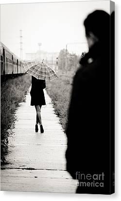 Walking Away Canvas Print by Gabriela Insuratelu