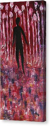 Creepy Canvas Print - Walking Away by Marianna Mills