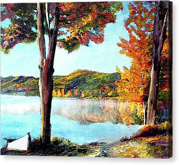 Walking Down Lake Champlain Canvas Print
