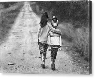 Gravel Road Canvas Print - Walking Down The Road by Nolan Clark