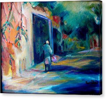 Walking Home Canvas Print by Pippi Johnson