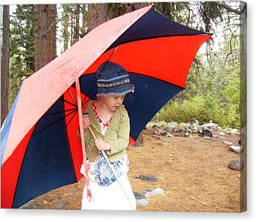 Canvas Print featuring the photograph Walking In The Rain by Dan Whittemore