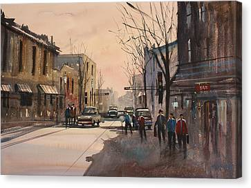 Walking In The Shadows - Fond Du Lac Canvas Print by Ryan Radke
