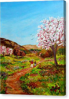 Walking Into The Springfields Canvas Print by Constantinos Charalampopoulos