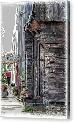 Walking Old Town Canvas Print by Lori Mellen-Pagliaro