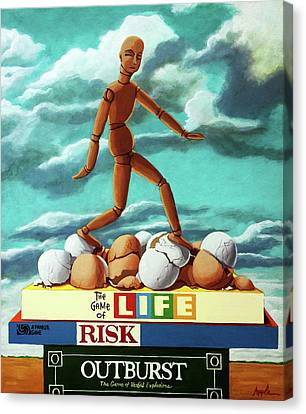 Canvas Print - Walking On Eggshells Imaginative Realistic Painting by Linda Apple