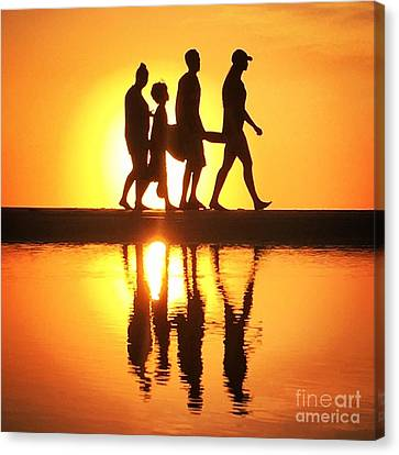 Walking On Sunshine Canvas Print