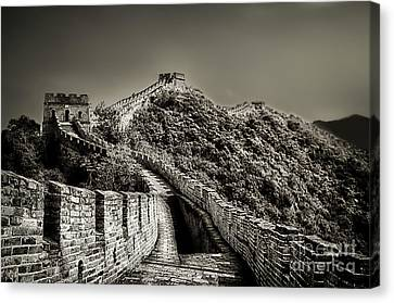 Walking On The History Canvas Print by Alessandro Giorgi Art Photography