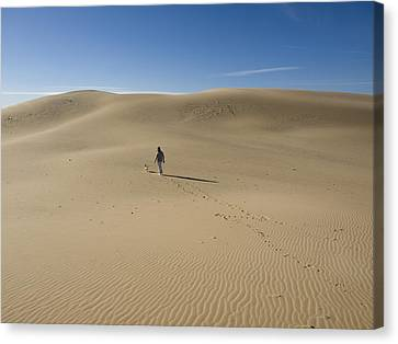 Walking On The Sand Canvas Print