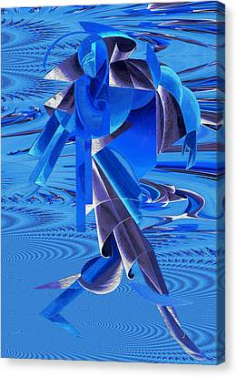 Canvas Print featuring the photograph Walking On Water by Robert G Kernodle