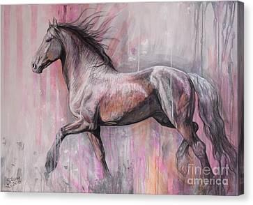 Walking Proud Canvas Print by Silvana Gabudean Dobre