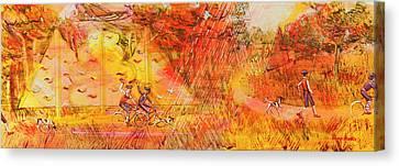 Walking The Dog 6 Canvas Print by Mark Jones